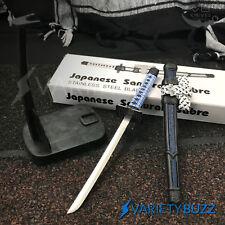 """8"""" STAINLESS STEEL JAPANESE SAMURAI SWORD LETTER OPENER Ninja Katana Scabbard"""