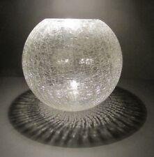 WMF: Große Kugelvase in Craqueleglas - Kristall - Wagenfeld Ära 60er
