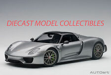 AUTOART 77925 PORSCHE 918 SPYDER WEISSACH PACKAGE (SILVER METALLIC) 1:18TH SCALE