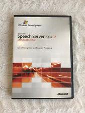 Microsoft Speech Server Recognition 2004 R2 Standard Edition Windows System