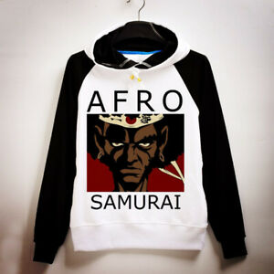 Unisex Hoodie Anime Afro Samurai Hoodie Samurai Print Pullover Sweatshirt Coat