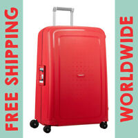 "Samsonite S'Cure Hardside 28"" 75cm Spinner Luggage Capri Red Stripes 49308-7964"