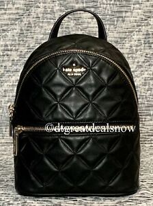 Kate Spade Natalia Mini Convertible Leather Backpack Quilted Bag Purse New