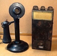 RARE 1909 ANTIQUE VINTAGE GRAY TELPAY TEL PAY STATION CANDLESTICK PAY PHONE