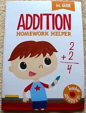 Addition Workbook Grade 1 Homework Helper Paperback Clever Factory (2016) New