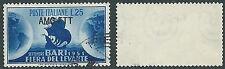 1951 TRIESTE A USATO FIERA DI BARI FILIGRANA LETTERA - L17