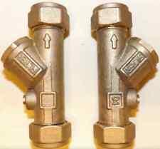 2 x Ideal Standard Trevi Y inline filter / service valves. E960086NU shower