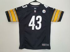 Authentic Nike NFL Pittsburgh Steelers #43 POLAMALU Youth Large 14/16 Jersey