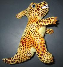 Toy Stuffed Dinosaur Animal Tan Brown Orange Unusual Texture Animal Planet
