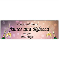 2 personalised wedding engagement banner party decoration poster just married