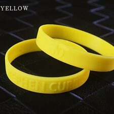 Silicone Bracelet Rubber Basketball Celebrity Sport Curry Wristband Cuff Bangle