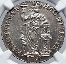 1794 NETHERLANDS Dutch Republic Holland Silver NGC Gulden Coin i86448