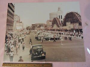 1951 Stillwell Av Coney Island New York Roller Coaster Color 8x10 Photo