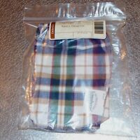 Longaberger Woven Traditions Plaid SMALL DESKTOP Basket Liner ~ New in Bag!