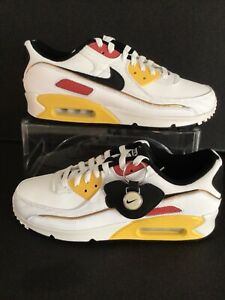 Nike Air Max 90 'ID By You' White/Yellow/Red-Black Sz.M.9.5/W.11  (DO6665-991)