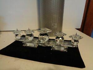 Swarovski Silver Crystal 5 Candle Holder Candelabra 13 Inches