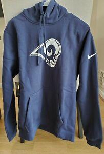 Nike NFL LA Rams Fleece Club Hoodie Mens Size Small and Medium 881632-420
