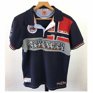 Geographical Norway Expedition Polo Shirt Mens Size XL Navy Blue