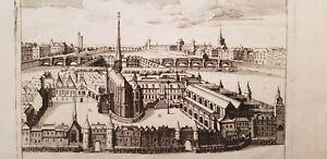 XVIIe 1640 RARE Gravure BOISSEAU Représentation Palais ROYAL en la Citté à PARIS