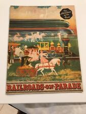 """1940 NY WORLD'S FAIR """"Railroads on Parade"""" Book Of The Pageant Tribute+Bill Play"""