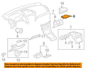Chevrolet GM OEM Instrument Panel Dash-Speaker Cover Grille Grill 20890841