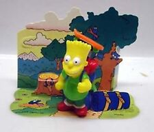 1990 BART SIMPSON Burger King Kid's Meal Toy Figure-Camper/Hiker w Back Drop