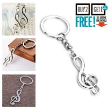 New Music Symbol Note G Treble Clef Pendant Keychain Key Chain Ring Gifts UK