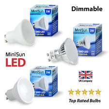 4 / 10 x MiniSun Dimmable SMD LED 5W GU10 Lamps Spot Light Day Warm White Bulbs
