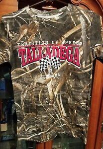 NWOT Tradition of speed  Talladega Alabama camouflage  extra large YTH t-shirt