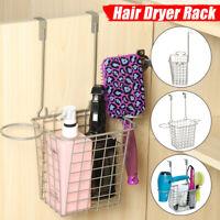 Bathroom Wall Mount Hair Dryer Holder Rack Spiral Stand Storage Organizer Hanger