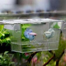 Acrylic Aquarium Fish Tank Breeding Breeder Isolation Box Hatchery Incubator