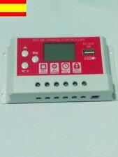 Regulador controlador solar 12v/24v 30A para la carga de Baterias conector USB