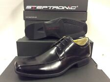 Steptronic Wistow Lace up Black Waxed Leather Mens Shoes Size UK 8 / EUR 42