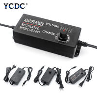 Adjustable Power Adapter Supply Charger Voltage Display Speed Control 3-12/4-24V