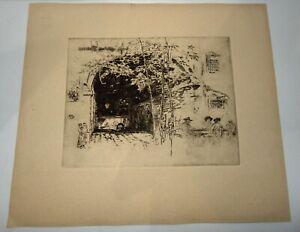 James Whistler Etching The Traghetto No 2