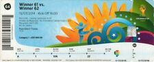 reproduction 2014 GERMANY ARGENTINA world cup final PERSONALISED ticket