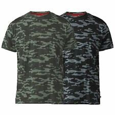 Mens Duke Big Size Short Sleeve Camo Army Print T-Shirt 2XL 3XL 4XL 5XL 6XL