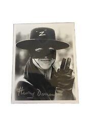 Zorro Signed 8 X 10 Henry Sawson No CaoA