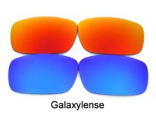 Galaxy Replacement Lenses For Oakley Square Whisker Sunglasses Blue/Red