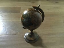 Large Vintage wood world globe & stand. Made in Italy