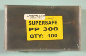 SUPERSAFE - 100 / PACK APPROVAL CARD  POLY HOLDER - HEAVY WEIGHT  #SS-PP300