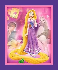 Disney Rapunzel - Disney Princess- Craft Panel- Cot Panel- Springs Cotton Fabric