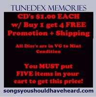 CLOSEOUT (VG) CD's • $1.00 each • Buy 1 get 4 FREE (5 CD's for $5) + Shipping!