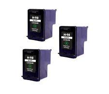 3PK NON-OEM INK FOR HP 98 C9364WN BLACK PhotoSmart 2570 2575 8049 8050 C4100
