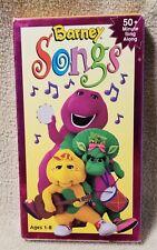 BARNEY SONGS Vhs Video Tape Purple Dinosaur 1995 Lyons Group Music Children VHS