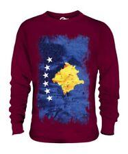 KOSOVO GRUNGE FLAG UNISEX SWEATER TOP KOSOVA KOSOVAR ?????? FOOTBALL KOSOVAN