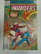 Marvel Invaders #23 (1977) 1st Scarlet Scarab Appearance Frank Robbins