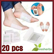 20pcs Slimming Foot Patches Detox w/ 20pcs Sticky Cloth Pain Relief Sleep Toxins