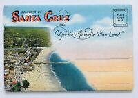Santa Cruz Favorite Play Land Souvenir Postcard Color Foldout Vintage Unposted