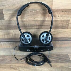 Sennheiser PX 100 Folding Headband On-Ear Wired Headphones Black & Original Case